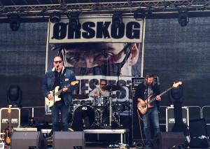 Frode Alnæs trio spilte på Ørskog Bluesfest 2015. Her fra lydsjekk.