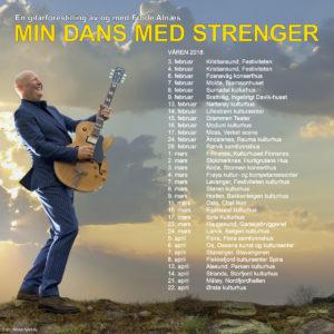 """Turnéoversikt """"Min dans med strenger"""" vinter/vår 2018"""